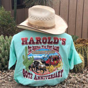 harolds 80th anniversary tshirt