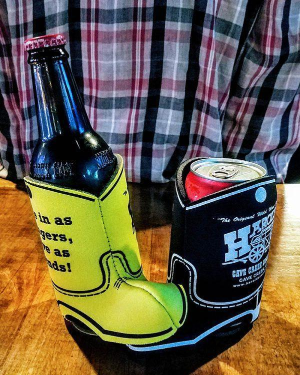 cowboy boot beer coozie