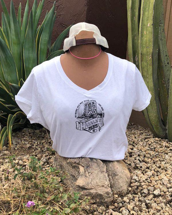 Womens White Front wordie tshirt